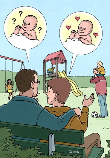Nou zeg, wat er toch allemaal komt kijken bij het krijgen van een kind.