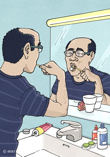 Van tanden poetsen krijg ik een lekker fris gevoel in mijn mond.