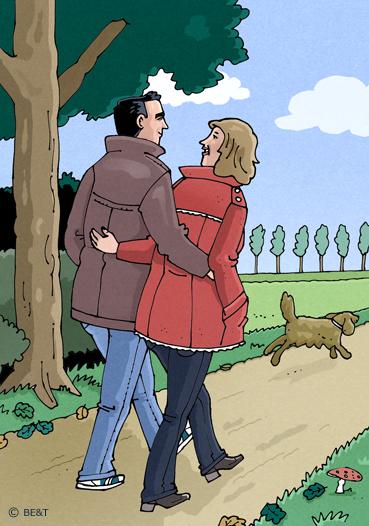Fijn om samen te wandelen!