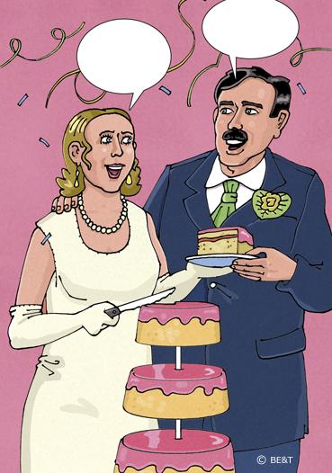 Wie wil het eerste stuk taart?